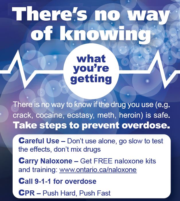 poster for opioid overdose prevention