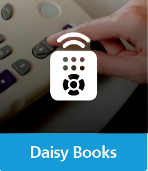 Graphic of Daisy Books with text and icon