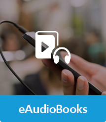 Graphic of eAudioBooks with text and icon