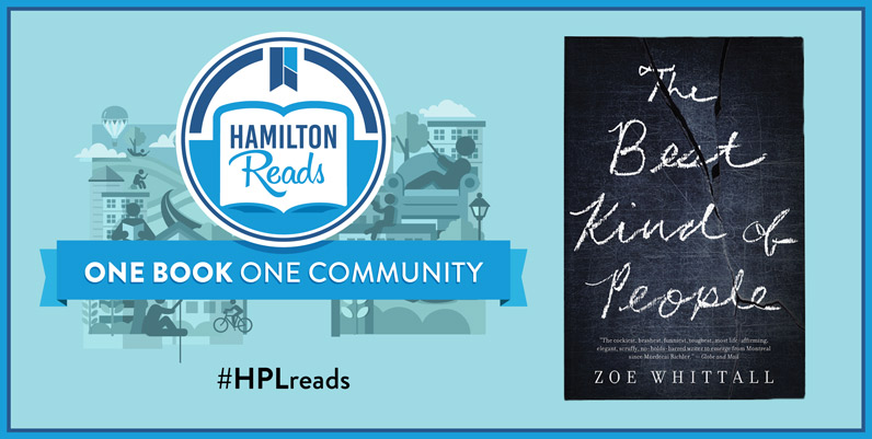 Book cover of The Best Kind of People with text Hamilton Reads One Book One Community