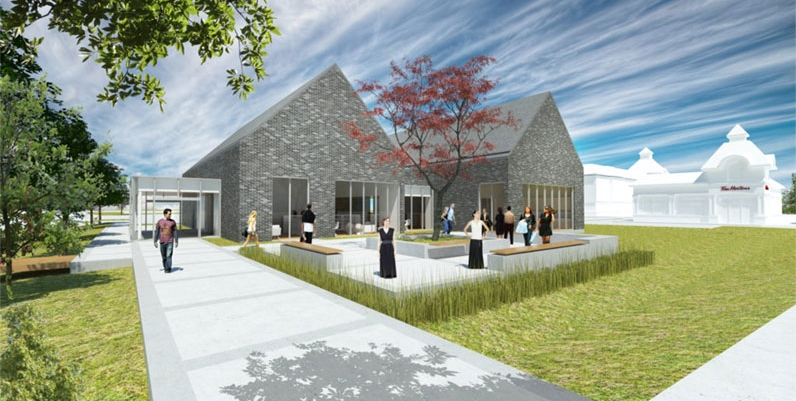 architect rendition of new Binbrook branch