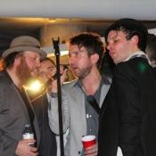 a group of men singing