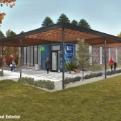 Outside rendering of the new Carlisle branch