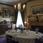 A look inside the dinning room of Whitehern