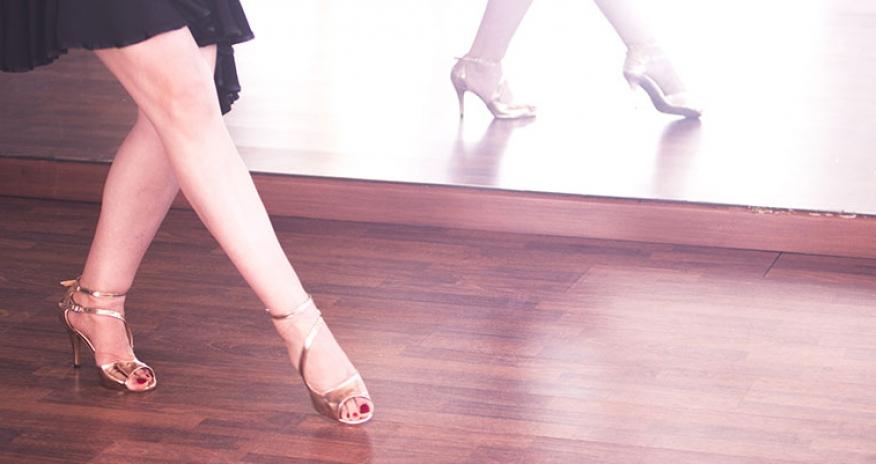 feet of a ballroom dancer