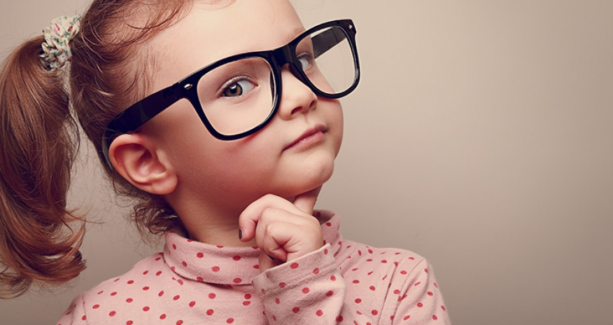 photo of a girl with glasses